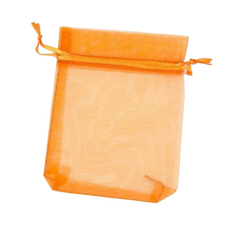 Bolsa de organza naranja oscuro 9 x 15