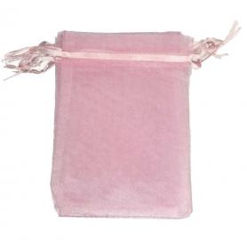 Saquito de Organza Rosa Claro 7 x 10