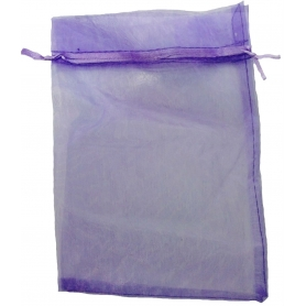 Organza bag for dark lilac details 15 x 20