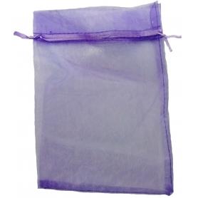 tenerife Bolsa de organza para detalles lila oscuro 15 x 20 en