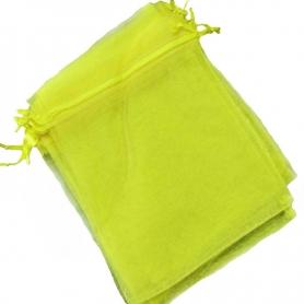 Bolsa de organza para detalles amarilla 15 x 20