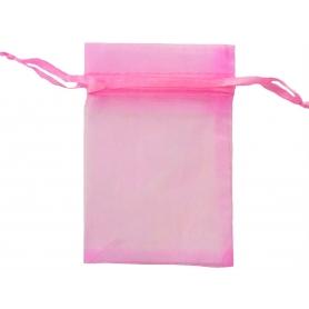 Bolsa de organza rosa chicle 13 x 17