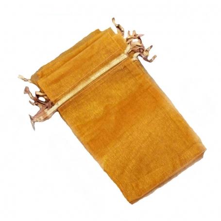 10 x 13 light orange organza bags