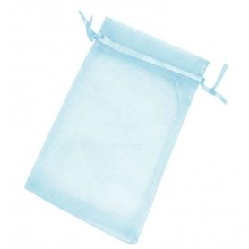 Bolsitas de organza azul claro 10 x 13