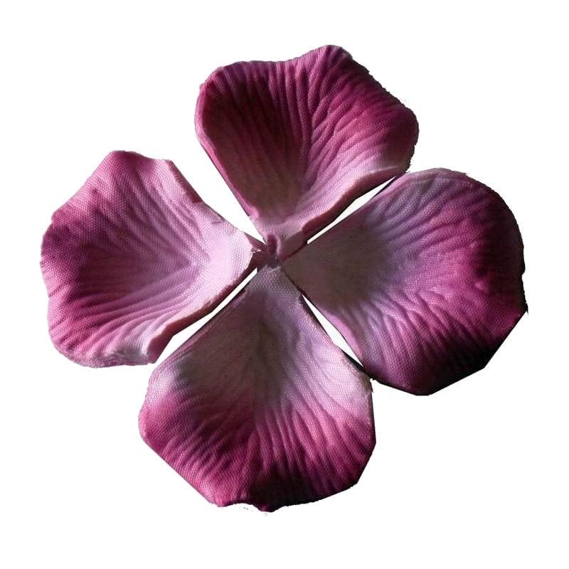 Pétalos de rosa artificiales malva