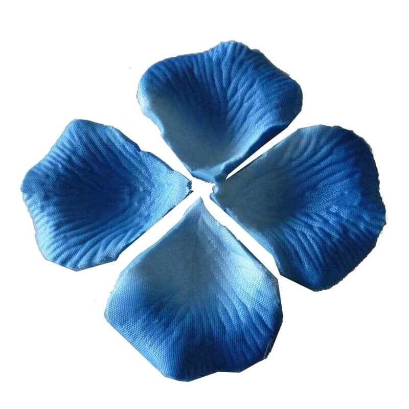 Pétalos para boda color azul