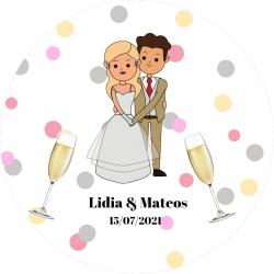 Llaveros boda personalizados