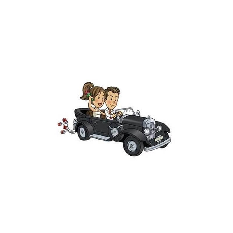 Wedding Grooms Will & Grace Sticker