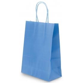 Bolsas azules de papel
