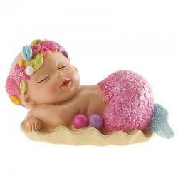 Figura sirena bautizo para Tarta Barata