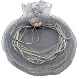 tenerife Bolsa de organza para arroz color plata y para pétalos