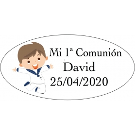 Adhesivo niño comunión