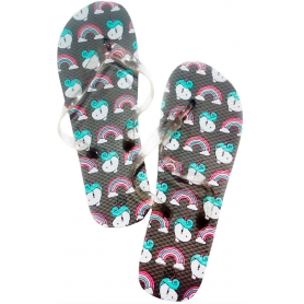 Chanclas unicornio arcoiris