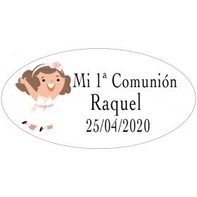 Pegatinas comunión personalizadas