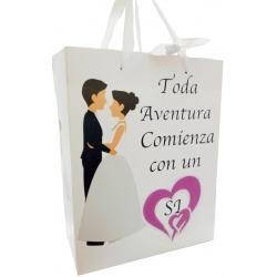 Bolsas con frase para detalles de boda