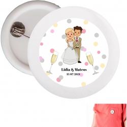 Chapas personalizadas boda Detalles Personalizados