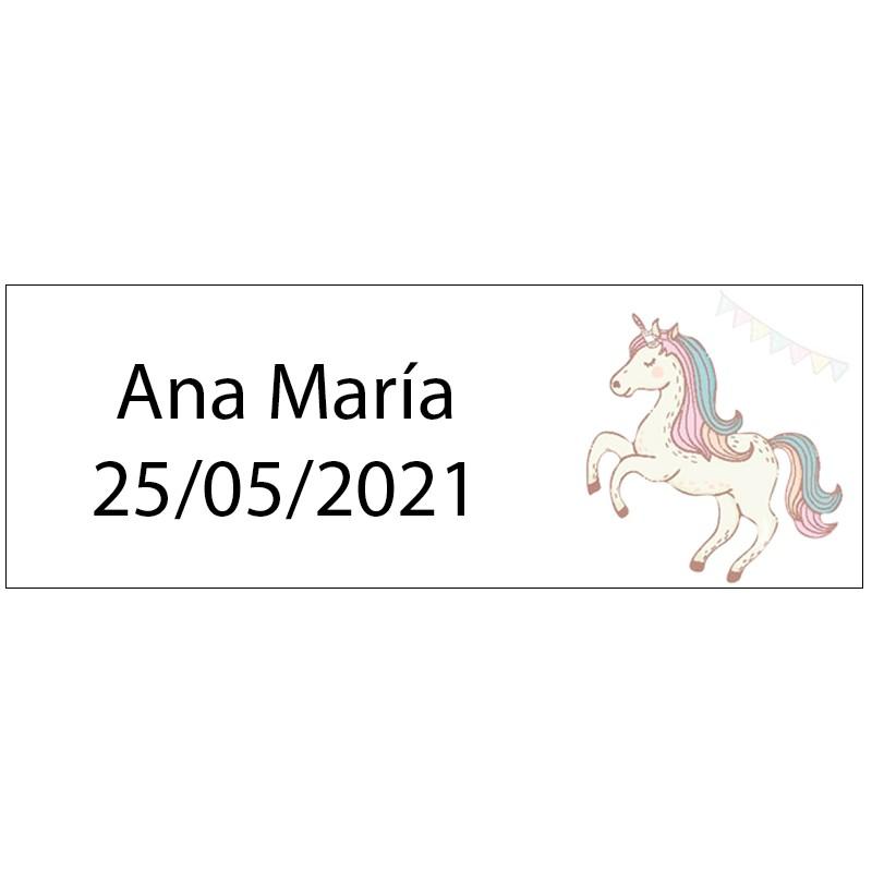 tenerife Etiqueta rectangular unicornio en Canarias