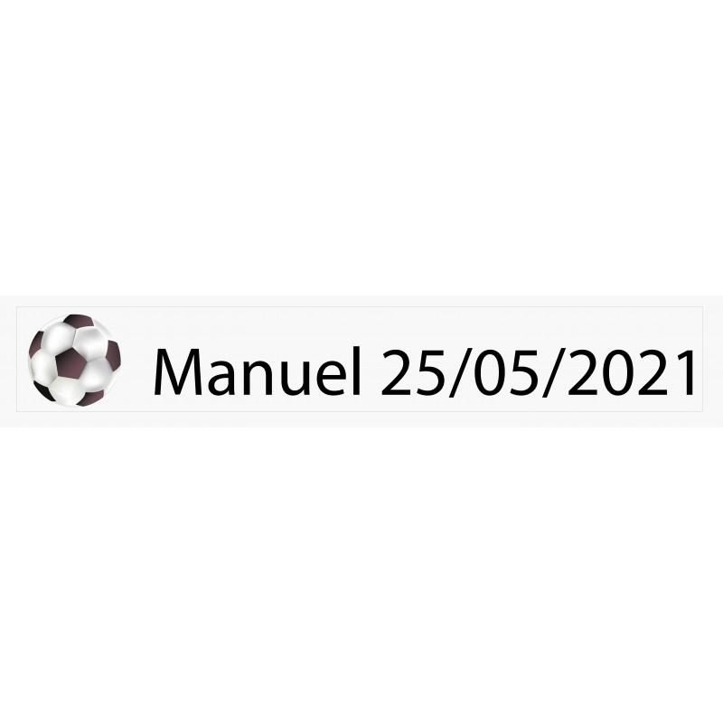 Pegatina personalizada Fútbol