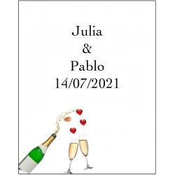 tenerife Pegatinas Champagne en Canarias