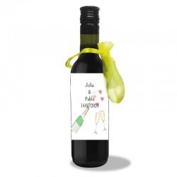 Botella de Vino Personalizada Boda