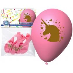 Pack globo Unicornio rosa