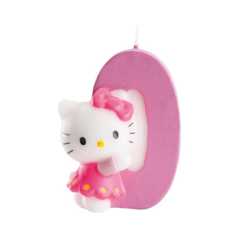 Vela Tarta Cero Hello Kitty Velas y Decoración para Tartas