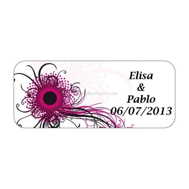 tenerife Etiqueta Adhesiva Flor Abstracta en Canarias