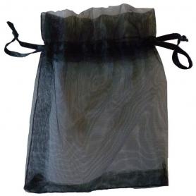 Bolsas organza baratas negra  Bolsa de organza Boda 10 x 13