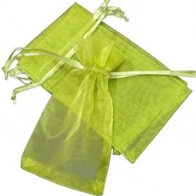 Bolsa de Organza Verde Oscura 13 x 17