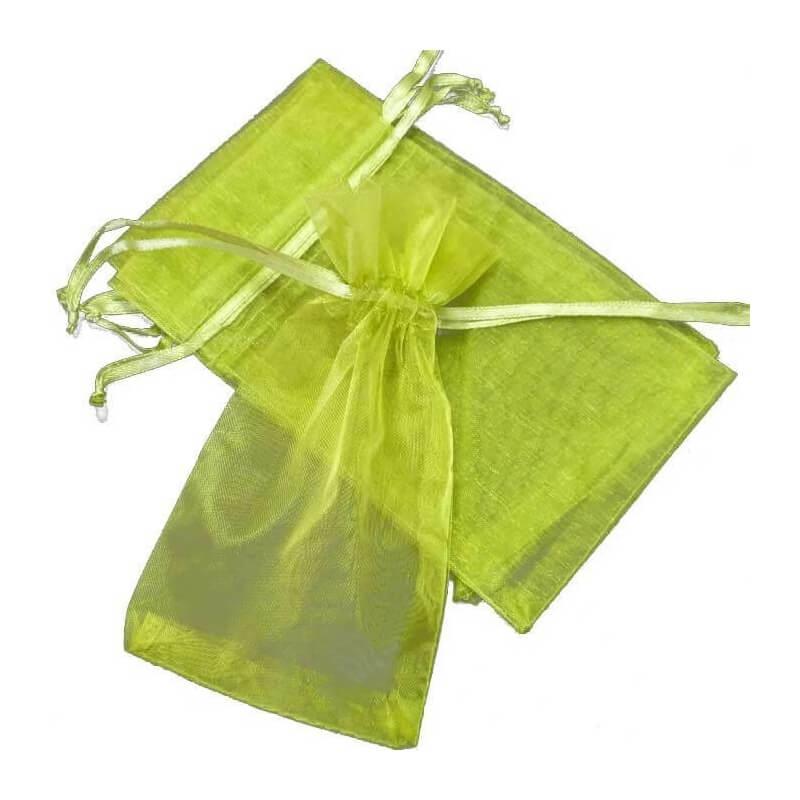 Dark Green Organza Bag 13 x 17