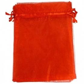 Saquito de Organza Rojo 7 x 10