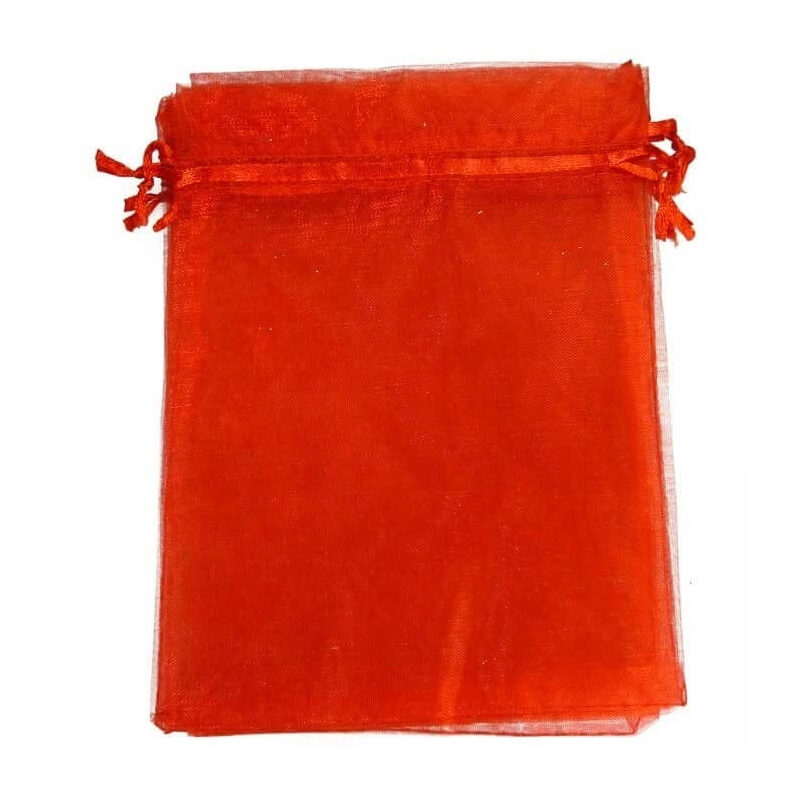 Red Organza bag 7x10