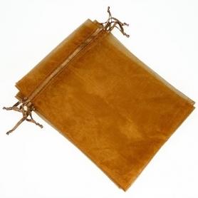 Bolsa de organza para detalles chocolate 15 x 20