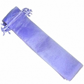 Bolsa de organza para abanicos lila claro Bolsas para abanicos
