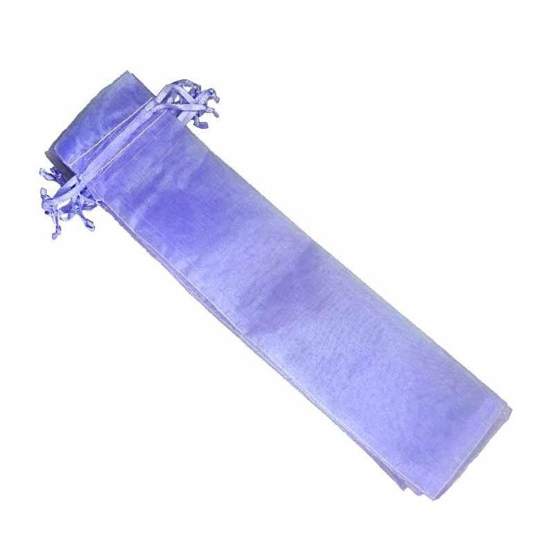 Bolsa de organza para abanicos lila claro  Bolsas de organza
