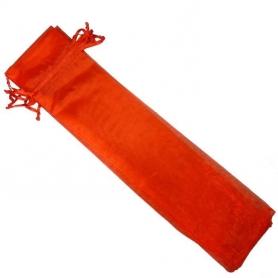 Bolsa de organza para abanicos roja