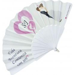 Abanico de boda con adhesivo Detalles Personalizados