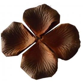 Pétalos para boda color chocolate
