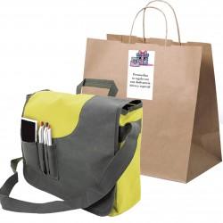 Maletín con bolsa y adhesivo