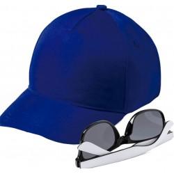 Gorra azul marino con gafas