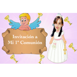 Invitación Animada Niña...