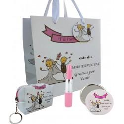 Conjunto especial boda, bolígrafo, espejo y monedero en...