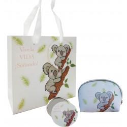 Regalo con diseño koala, monedero, espejo y bolsa