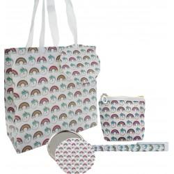 Set de regalo en bolsa estampada unicornio con boli,...