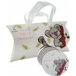 Regalo con diseño koala, espejo y caja personalizada para...