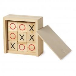 Original Regalo Juego 3 en rayas en caja de madera