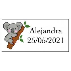 Adhesivo koala rectangular...