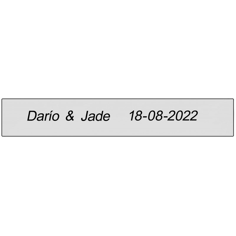 Adhesivo transparente rectangular para nombres y fecha