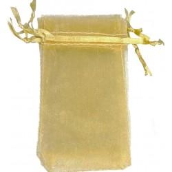 Bolsas de organza doradas...