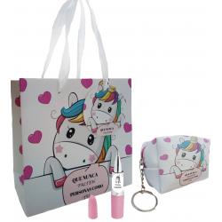 Monedero llavero, bolsa unicornio, con bolígrafo y...